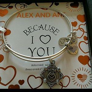 "NEW! Alex and Ani ""Mom"" bracelet"